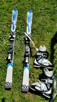 two blue and white snow ski North Vancouver, V7J 2L8