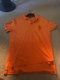 Orange ralph lauren polo shirt
