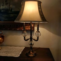 Bombay Bouillotte table lamp Crystal and Brass Toronto, M2N 5W4