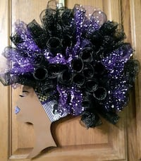 Baltimore Ravens Diva wreath