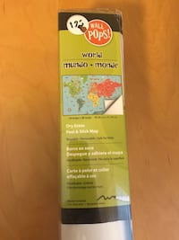 Dry Erase Peel and Stick World Map for kids
