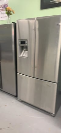 """36""""  3 door French dr stainless steel GE refrigerator on sale Essex"""