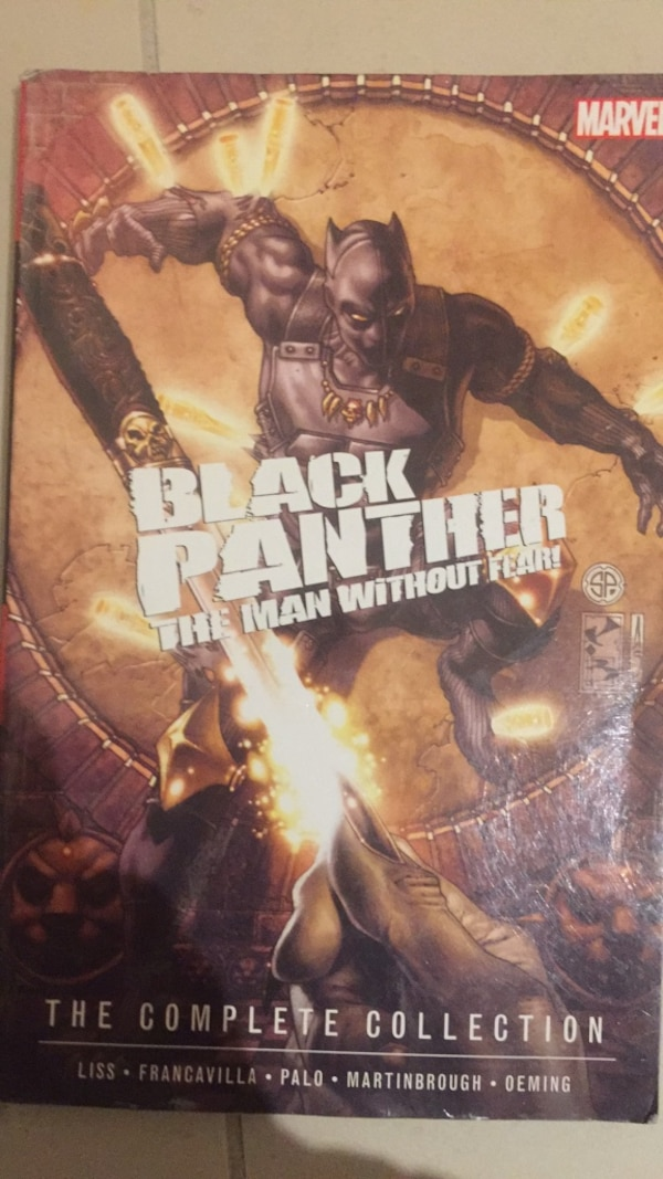 Black panther man without fear complete collection