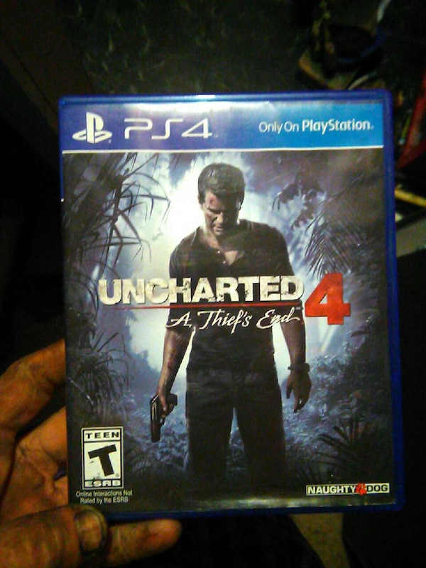 Used Uncharted 4 A Thief's End Sony PS4 game case for sale in Jonesboro - letgo