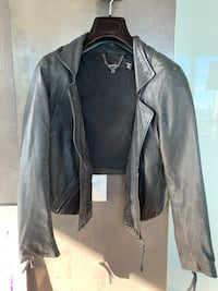 Muubaa, UK brand, 100% lamb leather jacket, black, size 6 Medium. Toronto, M4Y 1T1