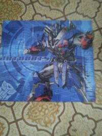 blue and red Transformer puzzle Lachute