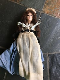 """RARE ANTIQUE Bisque New Orleans LA """"COURT OF THE DOLLS"""" - interesting tag FIRM PRICE Lawrenceville"""