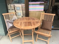 Brand new high-quality teak wood with two folding chairs Central Okanagan, V1X