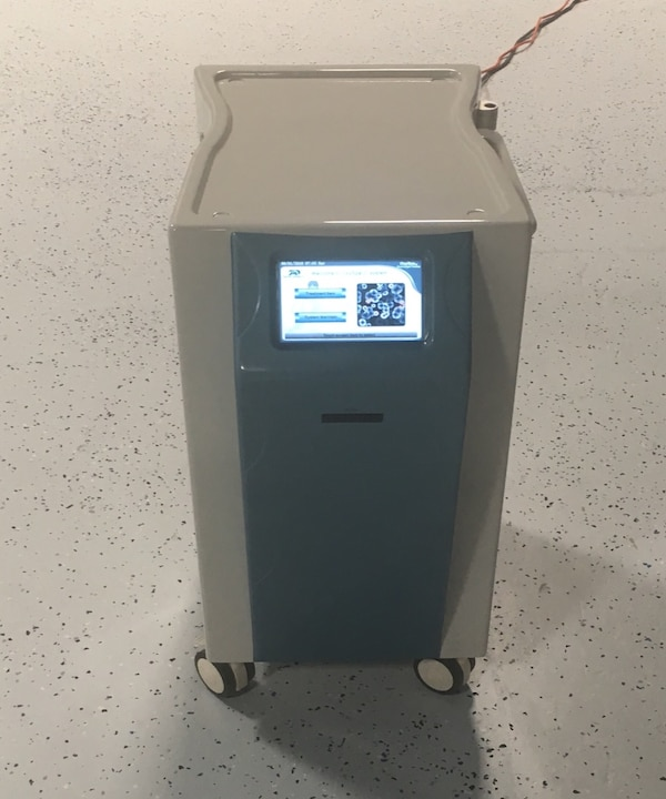 gray and black portable air conditioner