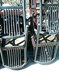 two black and white metal armchairs Buena Park, 90620
