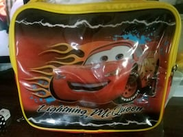 Lightning Mcqueen lunch bag and water bottles