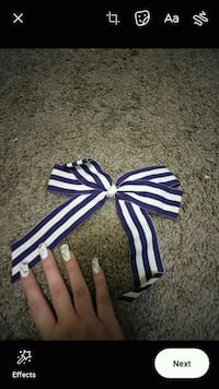 Purple And White Bow Never Worn! Lawrence