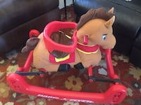 Radio flyer rocking bouncing pony with safety saddle