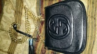black and gray leather bag Delta, V4C 1C4