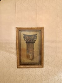 Roman column framed picture - excellent quality. 8 km