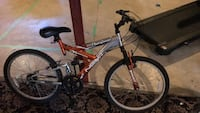 Red and gray full-suspension bike Gilberts, 60136