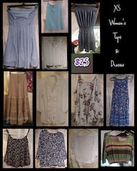 XS Tops and Dresses