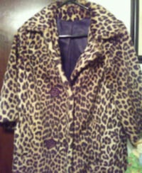 black and brown leopard print zip-up hoodie Providence, 02907