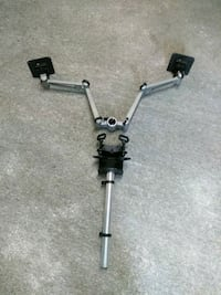 Double articulating arm/mounts and adjustable