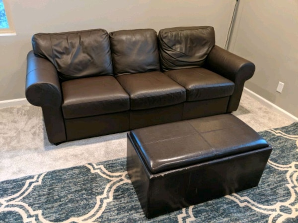 Excellent Ikea Sofa W Ottoman Creativecarmelina Interior Chair Design Creativecarmelinacom