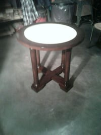 brown wooden framed white padded chair Hagerstown