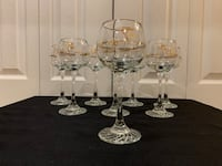 Eight 1988 Calgary Olympic Petro Canada Wine Glasses Markham, L3T 3L5