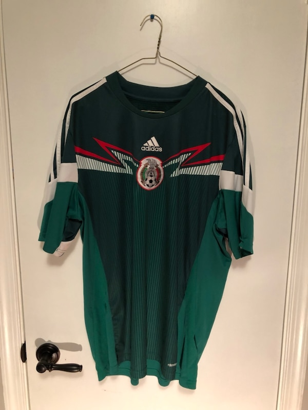 black and green Adidas jersey