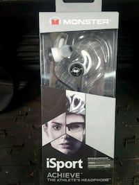 gray and black iSport headphone box Grande Prairie, T8V 1C2