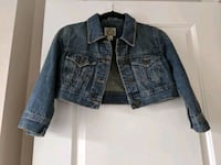 Cropped Jean Jacket Size Small Surrey