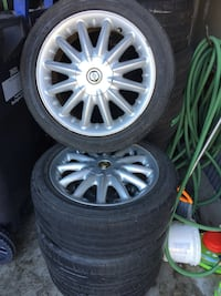 Gray multi-spoke auto wheel with tire set tires size 195/50/16 Brampton, L6R 0M1