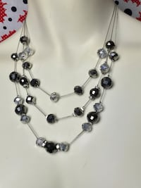 silver and black beaded necklace Palm Springs, 92264