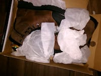 Size 11 steel toe mens boots  3149 km
