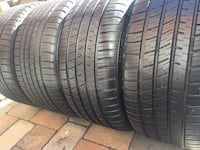 Michelin pilot staggered tires set size 18 Manassas, 20110