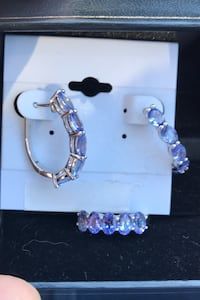 Tanzanite and silver earring and ring. Set for $300 each for $200
