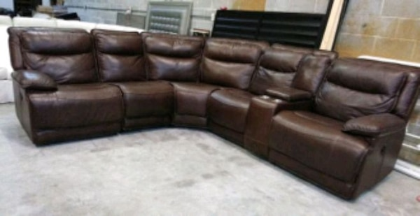 Used Carmine 6pc Italian leather sectional sofa for sale in Decatur ...