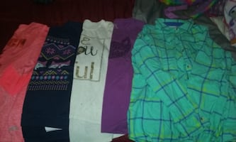 5 Girls Long sleeve Shirts 10-12 , 14-16