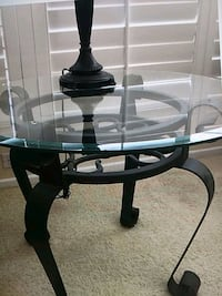 black and white wooden base glass top table South Gate, 90280