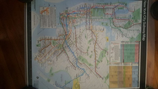 New York City Subway Map Poster.New York City Subway Map Poster