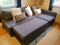Ikea blue sectional sofa bed