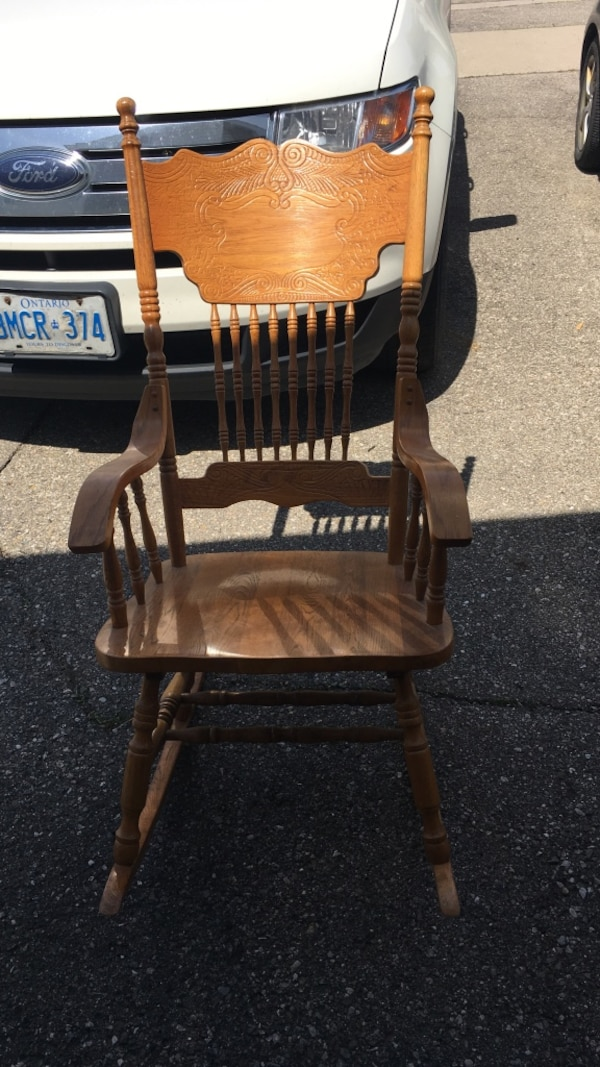 low priced d9dda 6b2ed solid oak rocking chair