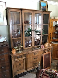 Large mid century China cabinet  Butler, 16002