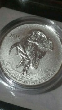 T-REX pure silver limited edition coin Canada  Toronto, M3C 4C5