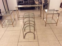 6 pices set of  glass table,good conditions  Toronto, M2R 2A3