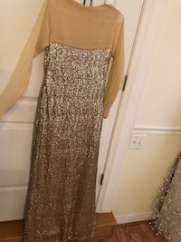 Gold Sequined Custom Made Maxi Alexandria, 22306