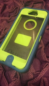 Yellow and gray otterbox iphone case