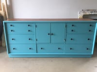 Aqua/natural wood stained dresser/buffet Adamstown, 21710