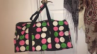 Polka dot duffel bag