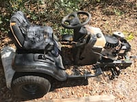 black and gray ride on mower Deland, 32724
