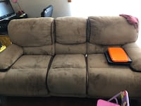 Brown and black fabric sofa chair Rolling Meadows, 60008
