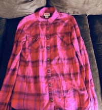Pink Plaid Long Sleeve - XS